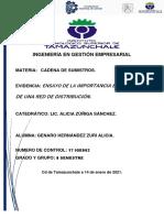 ENSAYO_ IMPORTACIA ESTRATEGICA DE UNA RED DE DISTRIBUCION_ZURI ALICIA