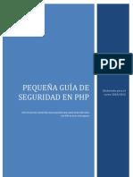 Guía de seguridad en PHP