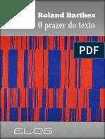 Roland Barthes - O Prazer do Texto-Perspectiva (1987) (1)
