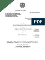 Broadsheet - UK High Court Decision