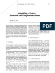 Cloud Computing - Issues, Research and Implementations