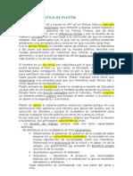 LA TEORÍA POLÍTICA DE PLATÓN