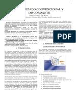 MECANIZADO CONVENCIONAL Y DISCORDANTE