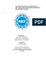 Design and Analysis of Control System for an Unmanned FreeSwimming Submersible Vehicle under Hydrodynamic Disturbances Design with Lead, PID and LQR Controllers