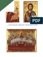 Calendar Crestin Ortodox 2010