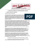 La censura de libros en la España moderna (1502-1805)