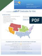 3000 Health IT Graduates for Hire
