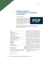 Mucopolysaccharidoses et oligosaccharidoses  manifestations ostéoarticulaires