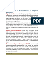 Requisitos de la Manifestación de Impacto Ambiental