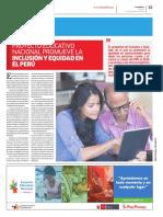 PEN2036 | Proyecto Educativo Nacional promueve la inclusión y equidad en el Perú