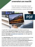 Come fare screenshot con macOS Mojave | Libero Tecnologia.pdf