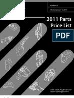 Corbin Parts Price Book 2011