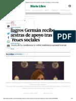Milagros Germán recibe muestras de apoyo tras ataques en redes sociales