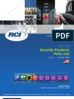 RCI Security Products Price Book 2011