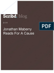 Jonathan Maberry Reads For A Cause, Scribd Blog, 2.1.11