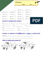 Exercicios de  Matemática 2º ano-a