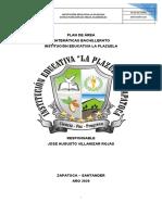 PLAN DE AREA MATEMATICAS  BACHILLERATO 2020