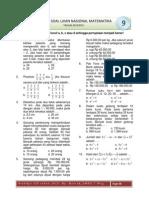 Prediksi UN SMP 2011 Mat P09