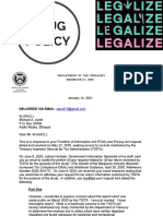 """The Treasury Inspector General for Tax Administration (TIGTA) Have Disclosed Documents About their March 2020 Report Entitled """"The Growth of the Marijuana Industry Warrants Increased Tax Compliance Efforts and Additional Guidance""""  Following a Freedom of Information Act Request for Records - W (AACL) - Michael A. Ayele"""