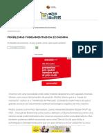 Problemas Fundamentais da Economia - Brasil Escola