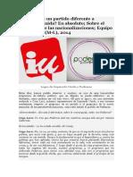 Bitácora Marxista-Leninista - Es Podemos un partido diferente a Izquierda Unida (2014)