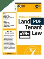 MoBarCLE Missouri Residential Landlord-Tenant Seminar