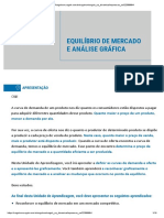 EQUILIBRIO DE MERCADO E ANALISE GRAFICA
