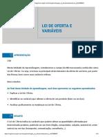 LEI DE OFERTAS E VARIAVEIS