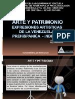 EXPRESIONES ARTISTICAS DE LA VENEZUELA  PREHIAPANICA - INDIGENA