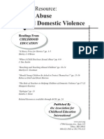 Child Abuse Domestic Violence