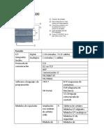 Datos técnicos PLCs