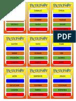 tarjetas pictionary