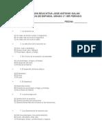 examen español grado 5 1er periodo
