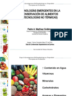 Tecnologias Emergentes en la consevacion de Alimentos (Tecnologias no termicas)