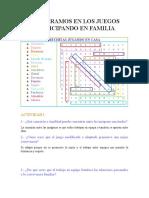 COOPERAMOS EN LOS JUEGOS PARTICIPANDO EN FAMILIA
