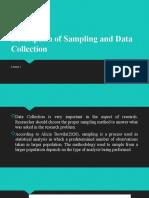Description of Sampling