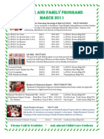 M&FP March Calendar of Events