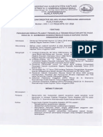 Perubahan Kedua Pejabat Pengelola Teknis Kegiatan (PPTK) Pada RSUD Dr. H. Soemarno Sosroatmodjo Kuala Kapuas 2020