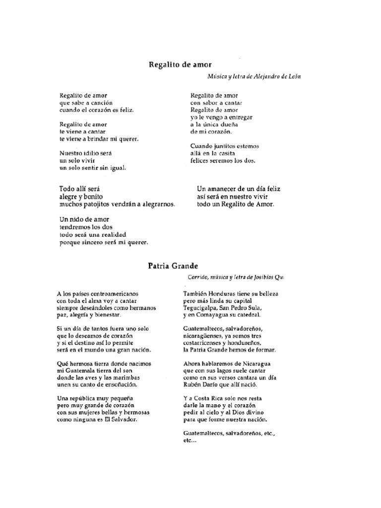 10 canciones guatemaltecas for Cancion en el jardin