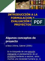 1. Introducción a la elaboración y evaluación de proyectos