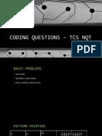 CODING QUESTIONS – TCS NQT
