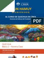 PPT - 9na Clase Quechua
