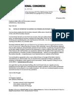 Letter to Cde Carl Niehaus 19 Jan 2021