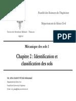 Identification et cassification des sols