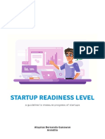 Startup Readiness Level - a guideline to measure progress of startup
