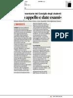 Salvatore Minniti è il nuovo presidente del Consiglio degli studenti - Il Corriere Adriatico del 18 gennaio 2021