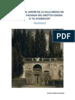 VISTA DEL JARDÍN DE LA VILLA MEDICI EN ROMA velázquez