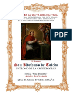 23 de Enero. San Ildefonso de Toledo, patrono de la Archidiocesis de Toledo. Kyrial Fons Bonitatis. Apéndice