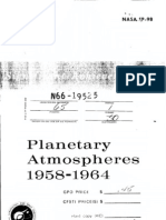 Significant Achievements in Planetary Atmospheres 1958-1964