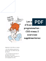 CSS - Niv2 - Exercices supplémentaires